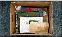 Box Of Stamp Albums And Loose Stamps, etc