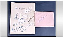 Cricket Autographs. Don Bradman plus 9 South
