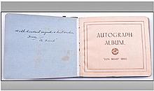 Autograph Book Containing A Collection of Signed
