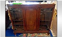Mahogany Chippendale Style Display Cabinet with