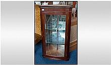Mahogany Corner Cabinet with glazed front door.