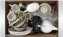 Box Of Assorted Ceramic Items. Comprising Denby