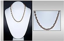9ct Gold Fancy Link Chain. Looks early 20th