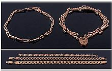 Collection Of Fine 9ct Gold Bracelets Various