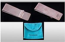Tiffany & Co Silver Money Clip, Fully Hallmarked