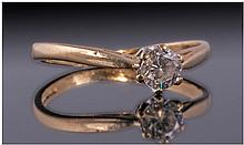 18ct Gold Diamond Solitaire, Set with a Round