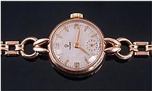 Rolex Tudor 9ct Gold Manual Wind Ladies Wristwatch