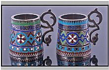 Russian Fine Pair Of 19th Century Moscow School