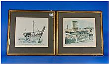 Two Signed Prints by Robin Newington, 1980,