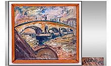 James Lawrence Isherwood 1917-1989, 'Bridge' Oil