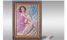 M Szantho (1898-1914) Hungarian Artist Signed Oil