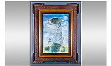 A French Impressionist Style Pastel Drawing of a