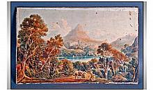 A 19th Century Italianate watercolour Landscape,