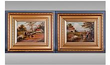 Two Victorian Oil Paintings. Country landscapes