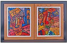 Robert Haworth 20th Century Artist Pair Of Prints.