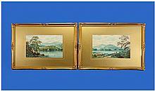 Albert Dunnington 1860-1928 Pair Of Oils On Canvas