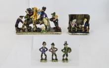 Will Young Runnaford Pottery A collection of 'Will Young Widecombe fair gro