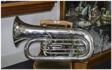 Boosey & Co Silver Plated Imperial Model 'Solbron' Class A Tuba, serial num