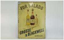 Late 19th Century Printed Enamelled Tin Advertising Sign for Crosse & Black