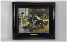 Early 20thC Framed Print ''A Song At Twilight'' 12 x 15 Inches, Broad Eboni