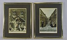 Tom Dodson 1910-1991, Pencil Signed Pair Of Limited And Numbered Colour Pri