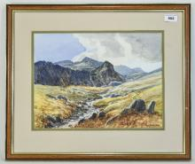RCD Lowry Framed Watercolour, Titled Deepdale To Reverse, Signed Bottow Rig