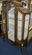 French Style Mahogany Vitrine/Cabinet Ormolu Mounted, Glass Sides And Fron