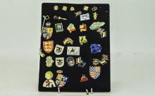 Collection Of Metal Pins And Badges, Some Enamelled, Various Subjects. Appr