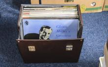 Collection Of Vinyl LP's In Carry Case, Mostly Golden Hours, Compilations,