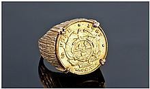 A 22ct Gold Kruger 1/2 Pond Date 1897. Set in a