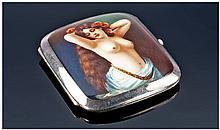 Edwardian Silver Enamelled Cigarette Case, The