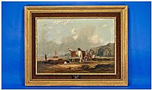 William Shayer Senior 1787-1879. Coastal Scene -