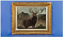 F. Grabtree Early 20th Century Artist. ''Stag in a