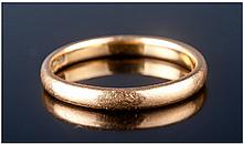 22ct Gold Wedding Band. Fully hallmarked. Ring