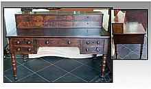 A French Flame Mahogany Regency Period Writing