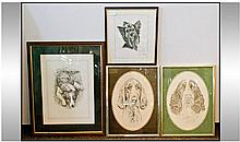 Four Different Prints Of Dogs, including Pollyanna