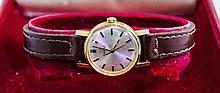 Ladies - Omega 9ct Gold Cased Mechanical Wind Wrist Watch, Fitted to an Ome