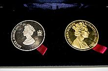 UK 2002 - Tower Mint Gold Jubilee Medallion Set.