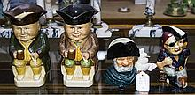 Collection Of Character And Toby Jugs Comprising 2 Wood & Sons Toby Jugs