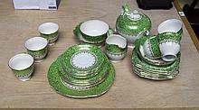 Royal Winton Tea Service comprising sandwich plate, teapot, dessert bowls,