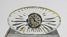 Waterford Crystal Fluted Mantle Clock. With original box and paperwork. 2.5