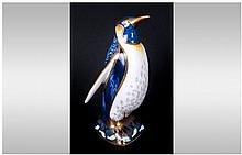 Royal Crown Derby Paperweight ' Emperor Penguin ' Gold Stopper. Date 2007.