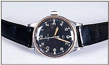 Omega British Military RAF Issue Stainless Steel Gents Wristwatch, circa 19