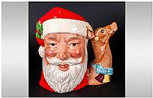 Royal Doulton Character Jug ' Santa Claus ' Style 2. D.6675. Issued 1982 On
