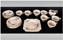 Crown Ducal 21 Piece Tea Service ' Florentino ' Design. c.1920's. Comprises