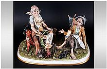 Capodimonte Fine Early and Signed Ltd Edition and Numbered Porcelain Figure