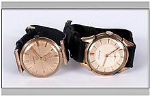 Gents Gold Cased Jaeger LeCoultre Wristwatch, Together With A Gents Gold Ca