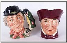 Royal Doulton Character Jugs, 2 in total, 'The Walrus & Carpenter' D6600, I