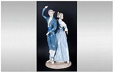 Nao by Lladro Impressive Tall Figure ' Dancers ' Spanish. Excellent Conditi