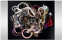 Lucky Dip, A Large Bag Of Assorted Costume Jewellery